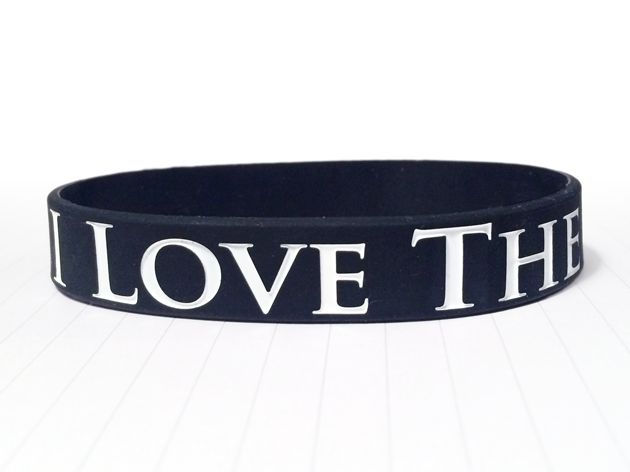 Classic Silicone Wristband custom made for An Awesome Customer