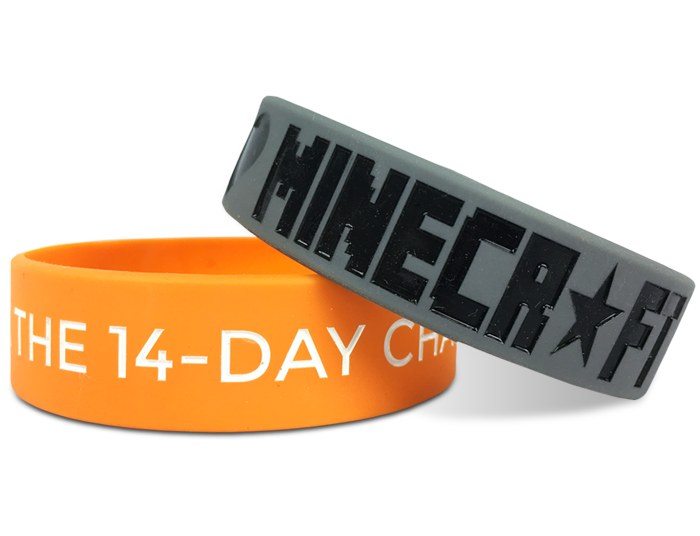 "3/4"" Silicone Wristband custom made for Minecraft"