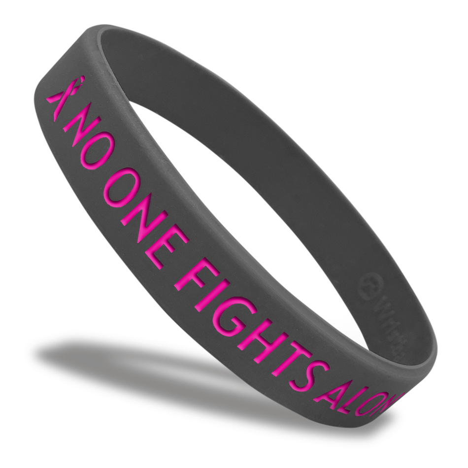 No One Fights Alone Classic Wristband custom made for a customer