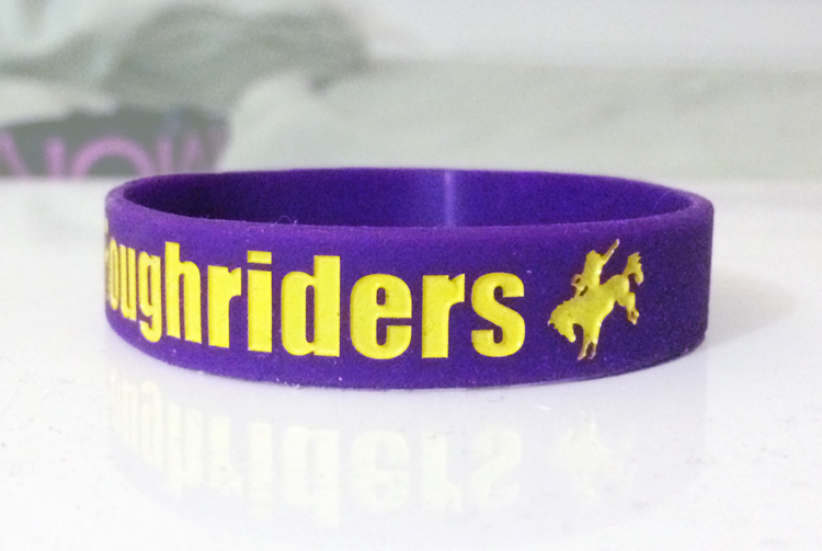 Classic Silicone Wristband custom made for Rough Riders