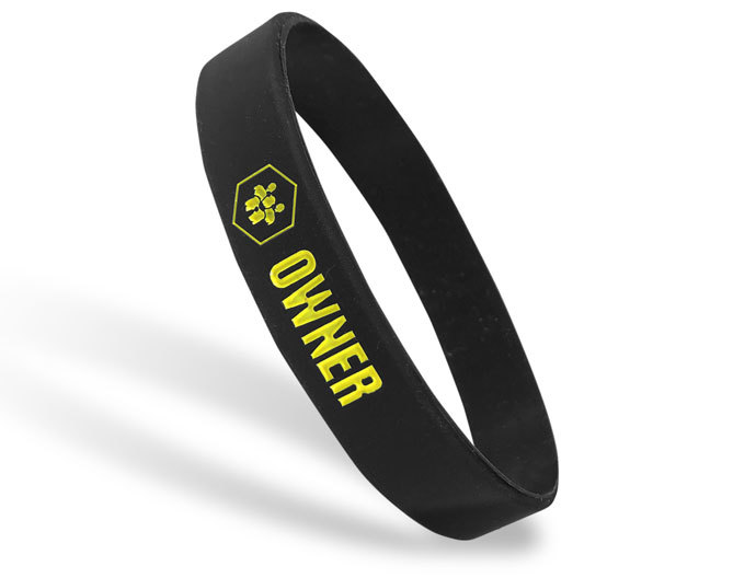 Classic Silicone Wristband custom made for Owner