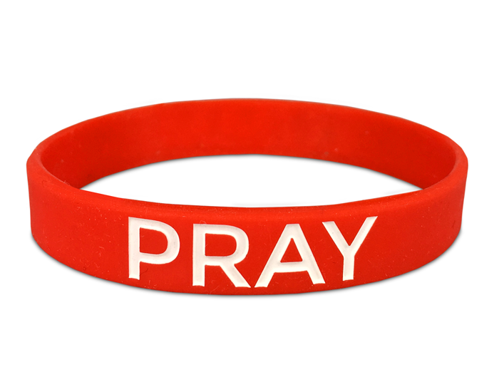 "1/2"" Silicone Wristband custom made for a Church Group"