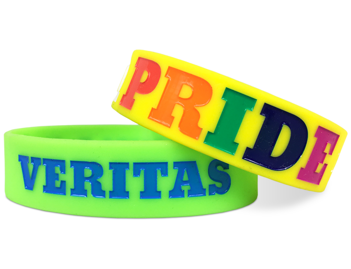 Ultra Wide Silicone Wristband custom made for our customers