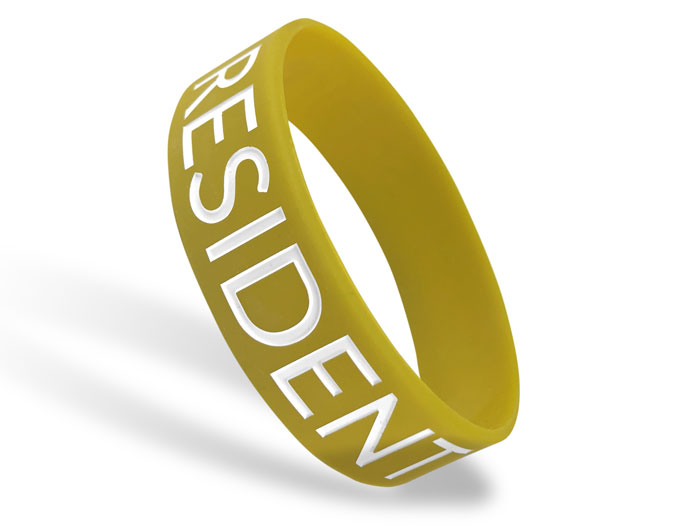 Wide Silicone Wristband custom made for Resident