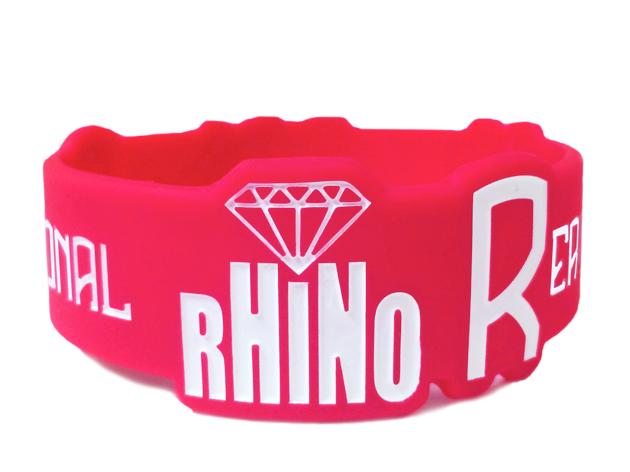 Die Cut Silicone Wristband custom made for Rhino