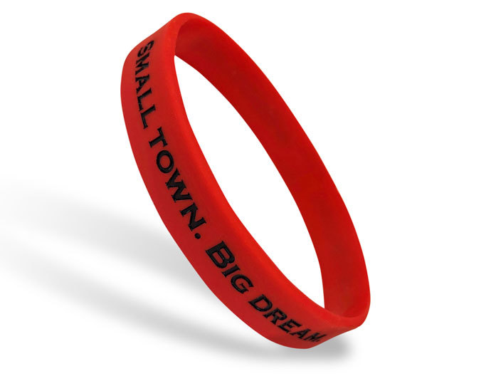 Classic Silicone Wristband custom made for Small Town. Big Dreams.