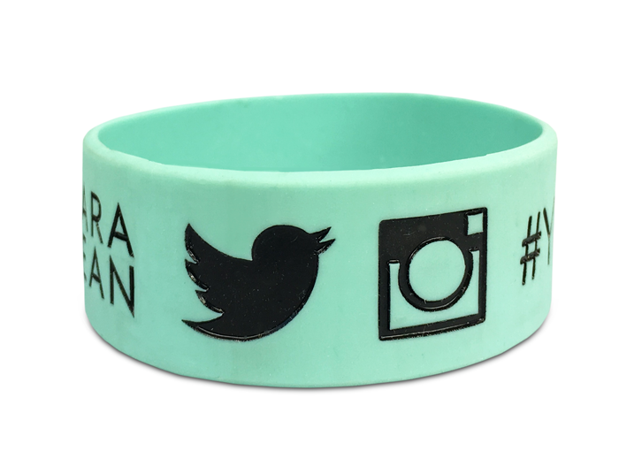 Ultra Wide Silicone Wristband custom made for a customer