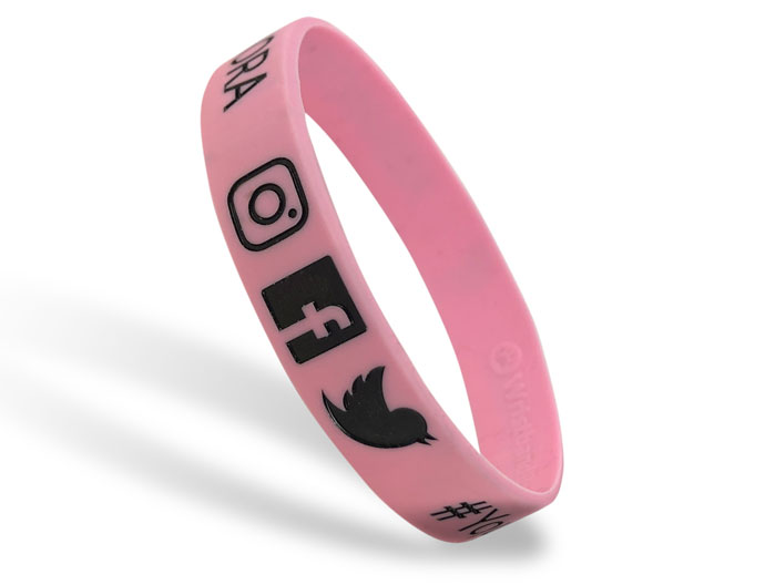 Classic Silicone Wristband custom made for Social Media