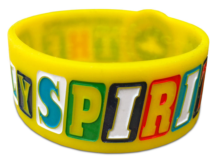 Ultra Wide Silicone Wristband custom made for a Youth Group