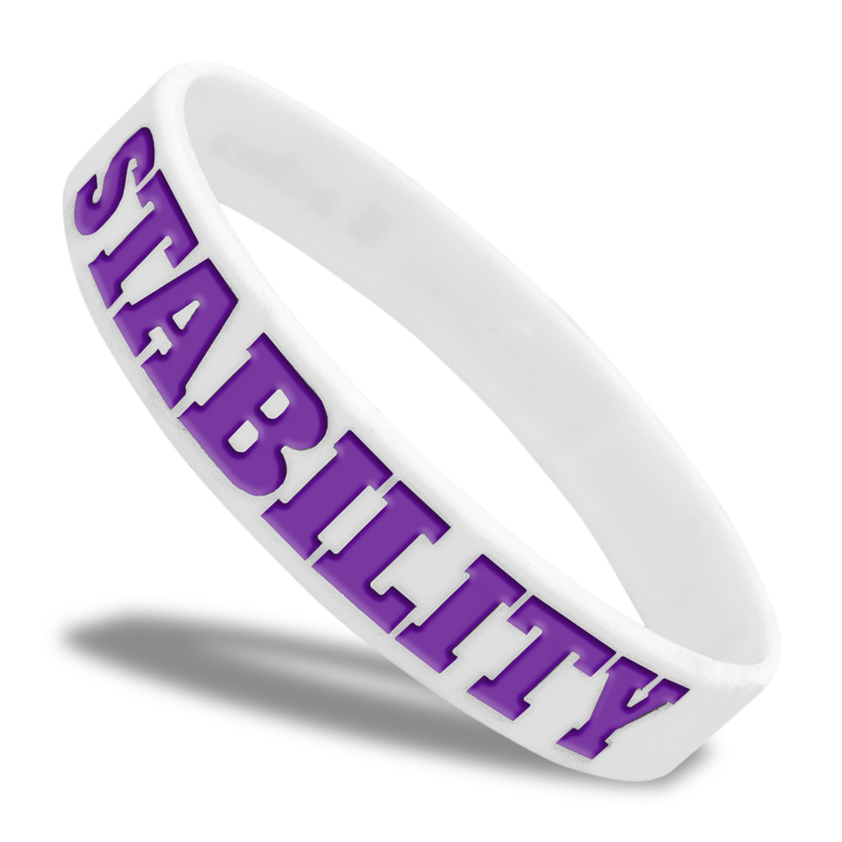 Stability Classic Silicone Wristband custom made for a customer