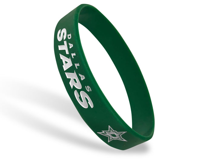 Classic Silicone Wristband custom made for Dallas Stars