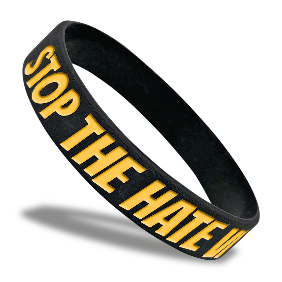 Stop The Hate Classic Wristband custom made for a customer