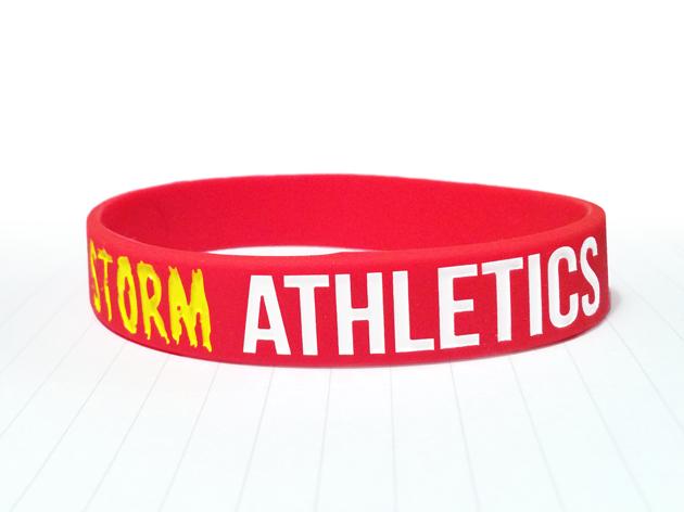 Classic Silicone Wristband custom made for Storm Athletics