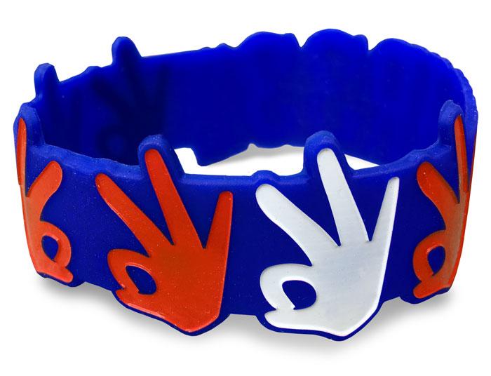 Die Cut Silicone Wristband custom made for a customer