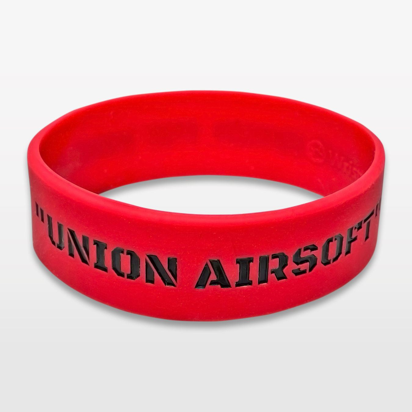 """Union Airsoft 3/4"""" Wide Silicone Wristband custom made for a customer"""