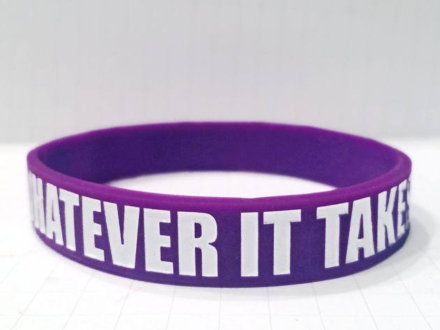 Classic Silicone Wristband custom made for Whatever It Takes