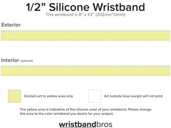 Classic Silicone Wristband template preview
