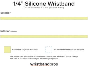Ultra Thin Wristband template preview