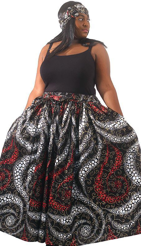 Heritage C-WH673-AS ( Holiday Skirt With Head Wrap )