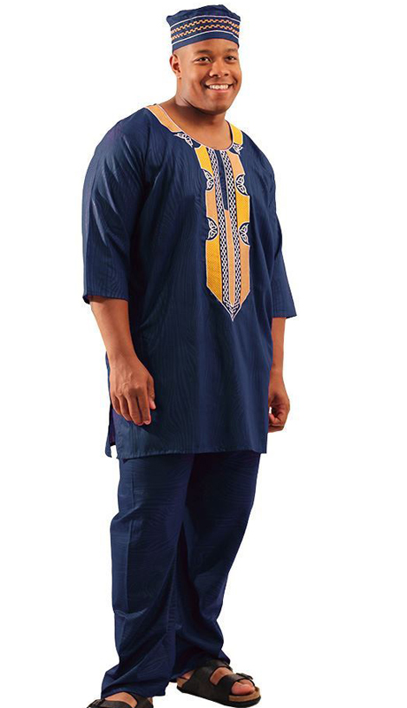 Heritage C-M127-NG ( 2pc Mens Regal Pant Set With Kufi Hat )