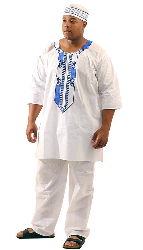 Heritage C-M127-WB ( 2pc Mens Regal Pant Set With Kufi Hat )
