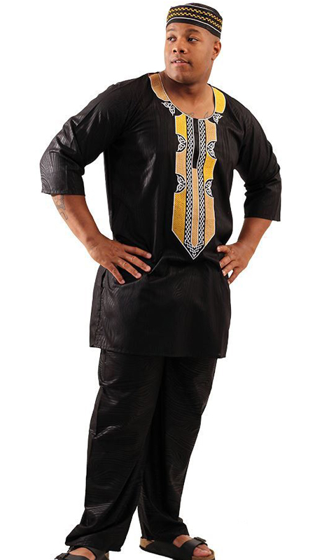 Heritage C-M127-BG ( 2pc Mens Regal Pant Set With Kufi Hat )