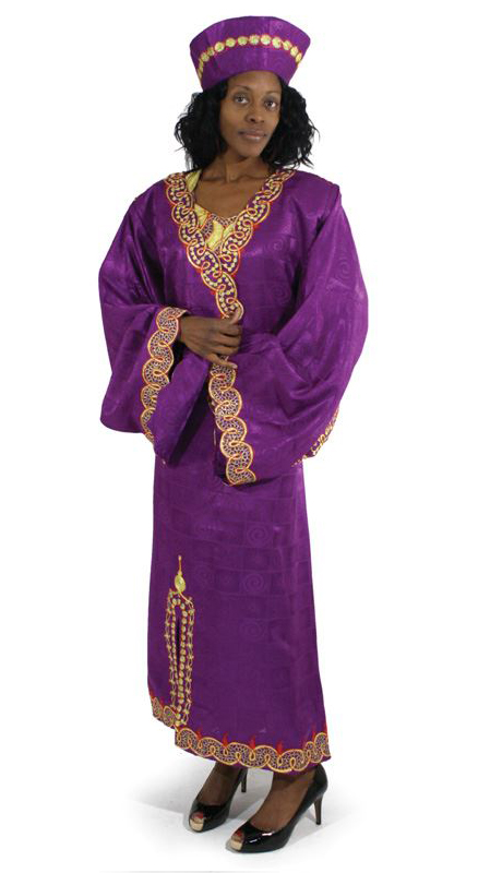Heritage C-WF731-PU ( 2pc Nubian Queen Luxury Dress Jacket With Head Wrap )