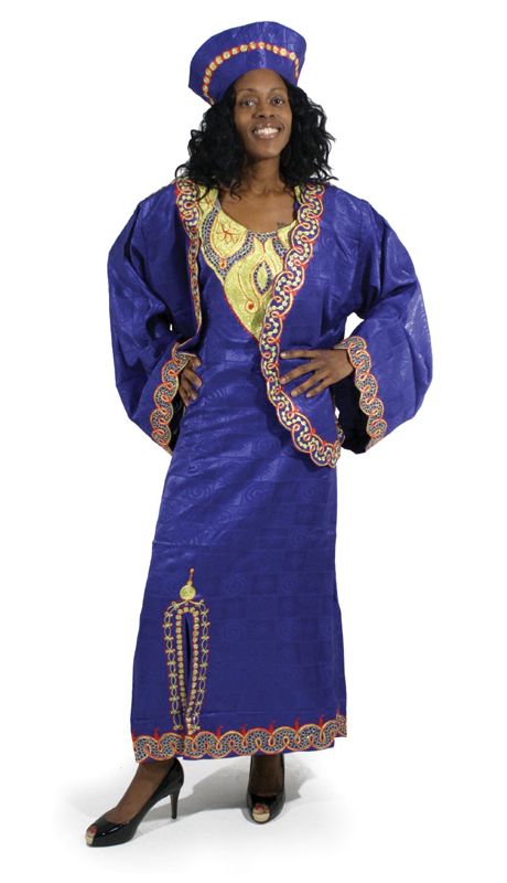 Heritage C-WF731-BP ( 2pc Nubian Queen Luxury Dress Jacket With Head Wrap )