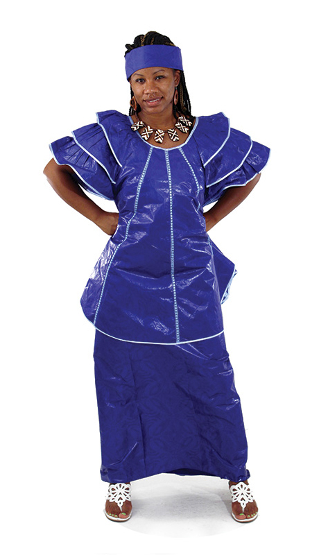 Heritage C-W527-RB ( 2pc Brocade Pleated Skirt With Head Wrap )