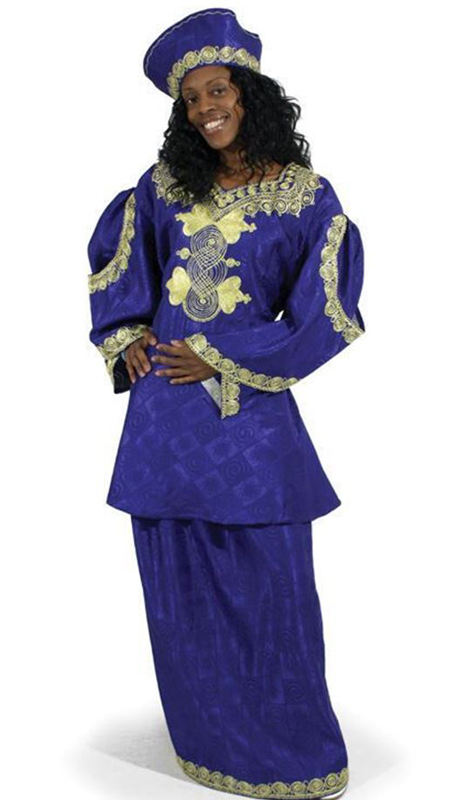 Heritage C-WF730-RG ( 3pc Renowned Royal Sleeve Skirt Set With Matching Cap )