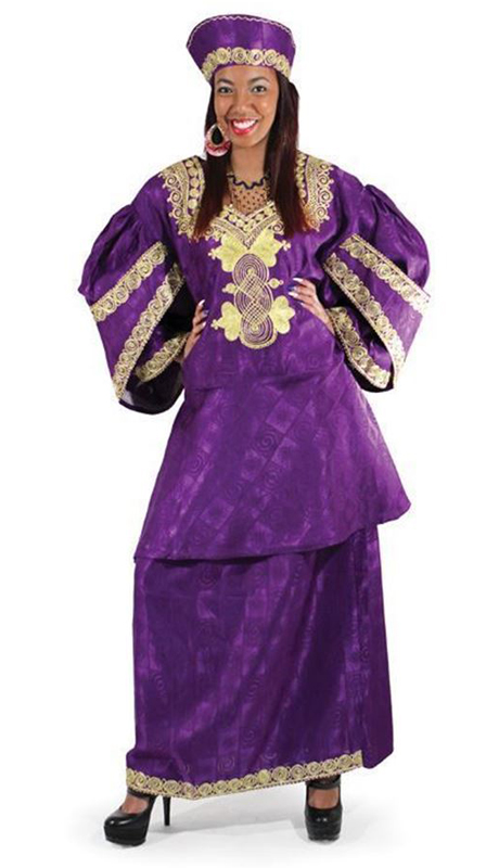 Heritage C-WF730-PG ( 3pc Renowned Royal Sleeve Skirt Set With Matching Cap )