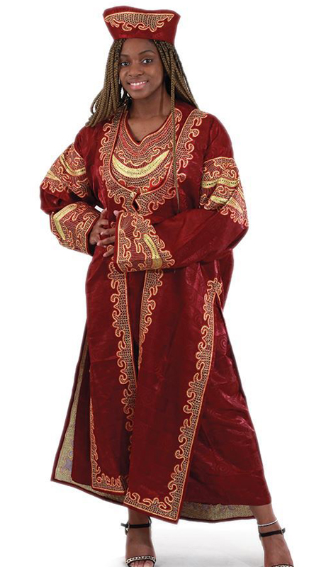Heritage C-WF399-MG ( 2pc Diva Queen Dress Jacket Set With Matching Head Wrap )