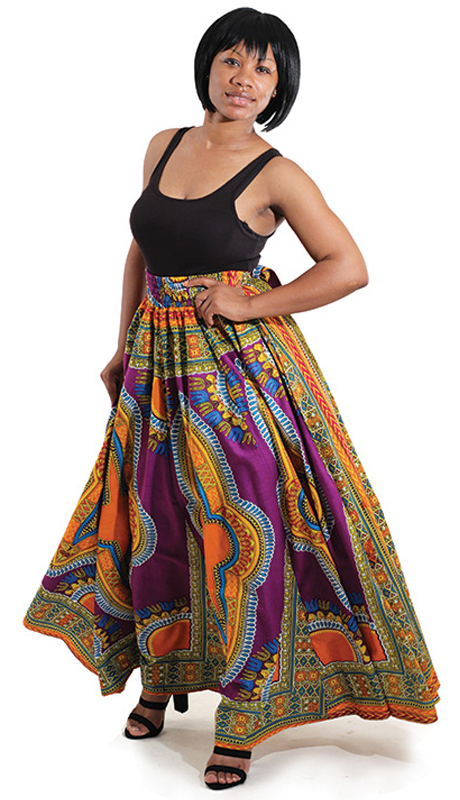 Heritage C-WS947-PM (1pc Traditional Print Paneled Skirt )