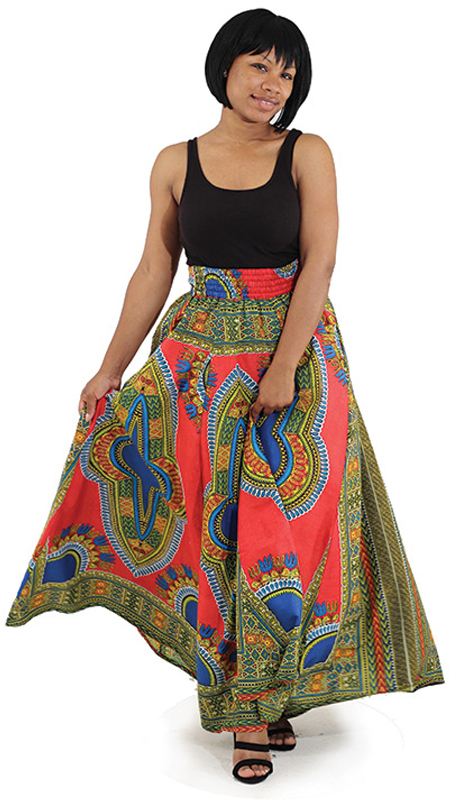Heritage C-WS947-RM (1pc Traditional Print Paneled Skirt )