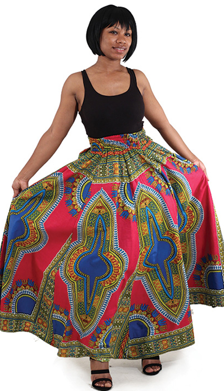 Heritage C-WS947-FM (1pc Traditional Print Paneled Skirt )