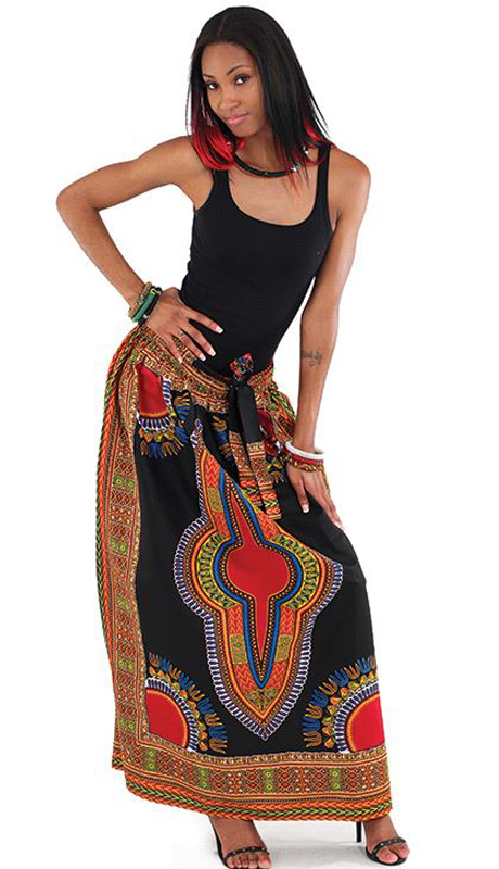 Heritage C-WF907-BP ( 1pc Traditional Print Panel Skirt )