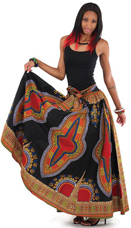 Heritage C-WF906-BP ( 1pc Traditional Print Maxi Skirt )