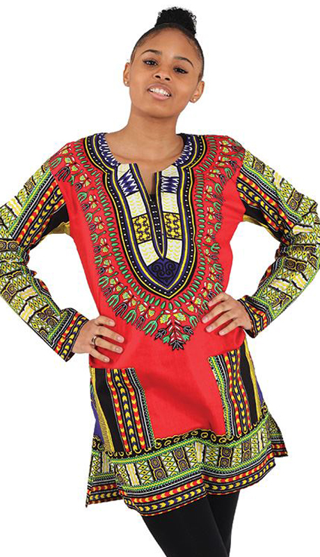 Heritage C-U940-RP ( 1pc Traditional Print Long Sleeve Dashiki )