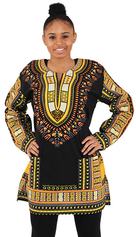 Heritage C-U940-BG ( 1pc Traditional Print Long Sleeve Dashiki )