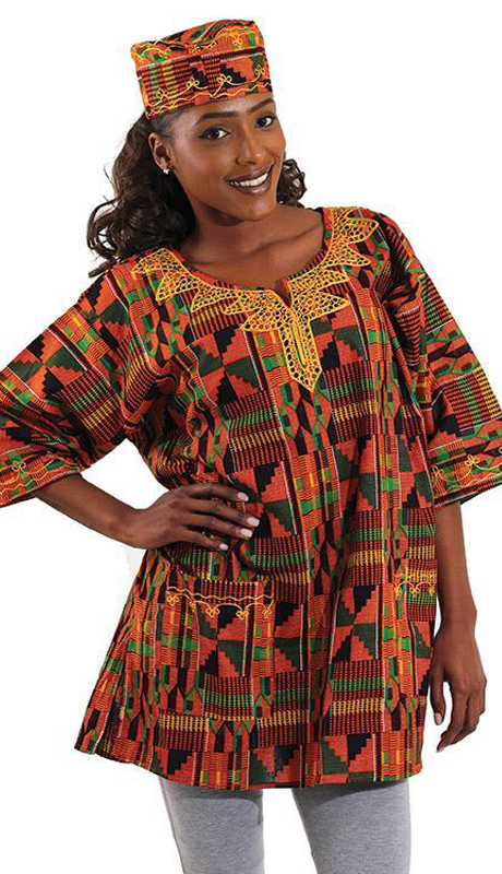 Heritage C-U920-MP ( 1pc Kente Dashiki Style 2 With Matching Cap )