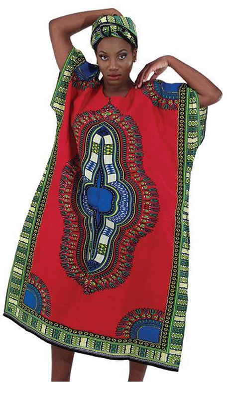 Heritage C-WH109 ( 1pc Traditional Zipper Kaftan With Head Wrap )