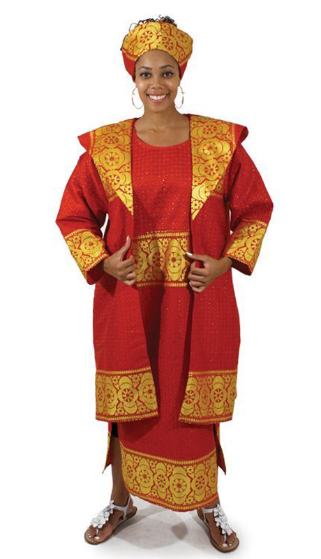 Heritage C-W953 ( 2pc Dress With Jacket Set With Head Piece )