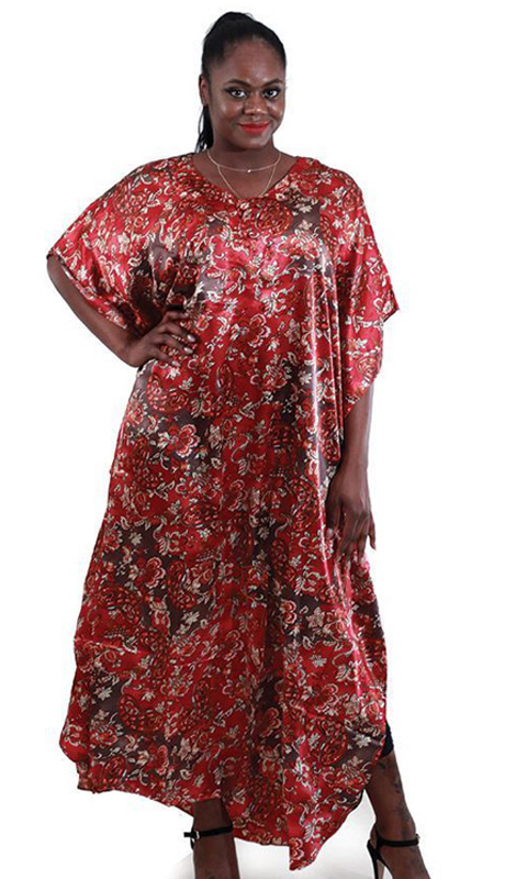 Heritage C-WH246 ( 1pc Ladies Black Flower Print Long Skirt With Two Pockets And A Matching Headscarf )
