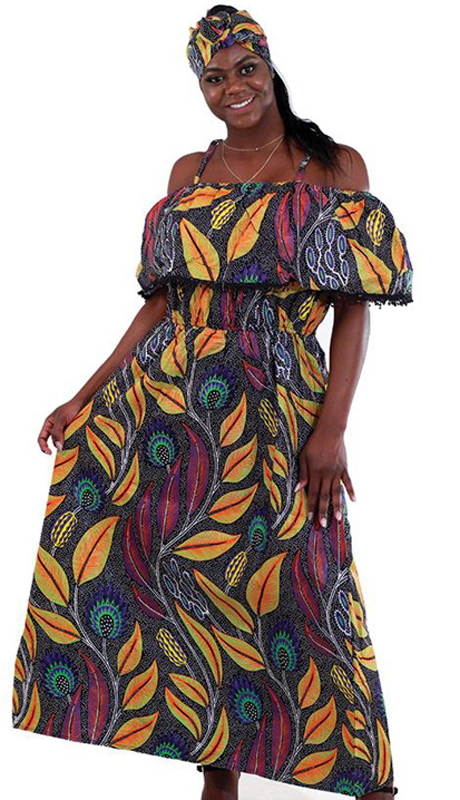 Heritage C-WH248 ( 1pc Ladies African Print Long Dress )