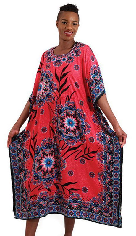 Heritage C-WH251 ( 1pc Women's Pink Flower Kaftan )