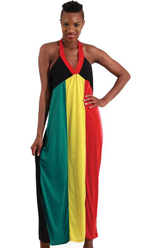 Heritage WH279 ( 1pc Womens Sleeveless Rastafarian Style Dress )