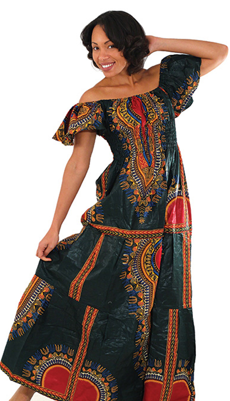 Heritage C-WH075-G ( 1pc Women's Traditional Princess Dress With Flutter Sleeve )