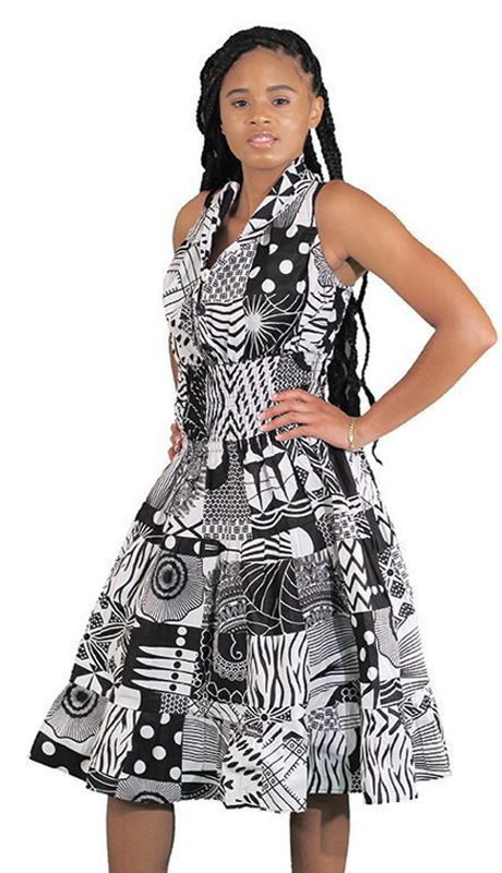 Hertiage C-WK007 ( 1pc Traditional African Print Queen Dress )