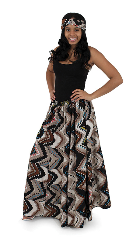 Heritage C-WF830-AS ( African Print Flared Skirt )