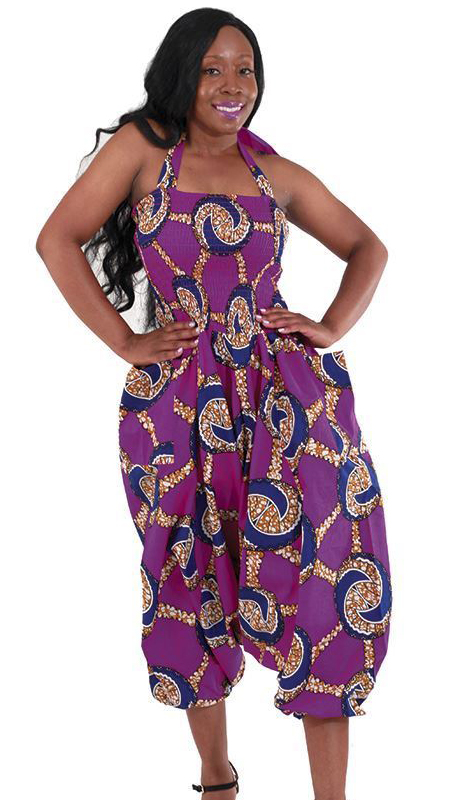 Heritage C-WH072-PU ( 1pc African Print Jump Suit )